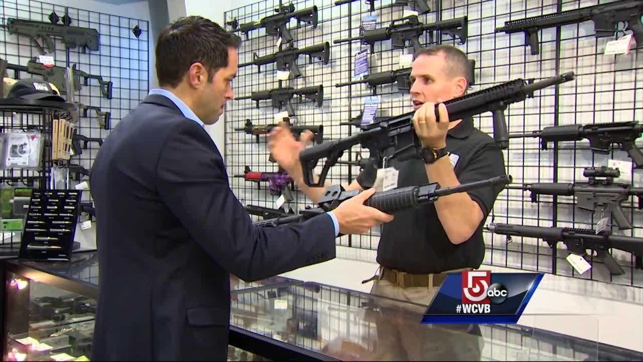 Massachusetts is one of seven states that bans assault weapons, but a firearms school instructor says the ban is all about cosmetics.