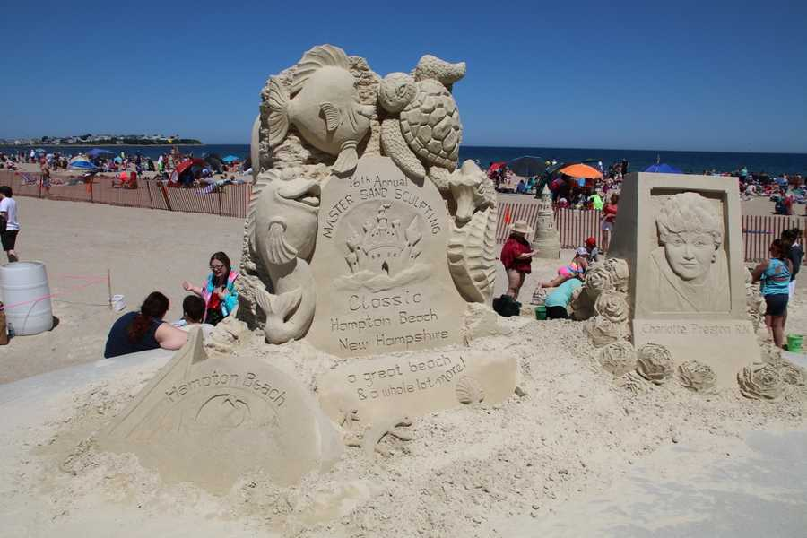 The world's top sand sculptors were joined by thousands of people on the beach this weekend for the 16th annual Hampton Beach Master Sand Sculpting Classic.