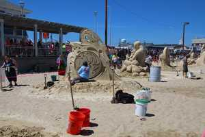 Thousands of people who saw the sand sculptures in person got a chance to vote for their favorites.