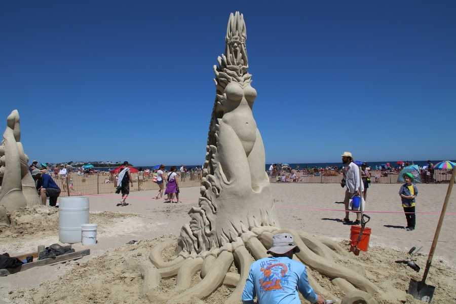 Olivier-Deveau is from Quebec City, Canada. The professional sand sculpter says this occupation merely was a summer job meant to help finance university study in the field of philosophy.