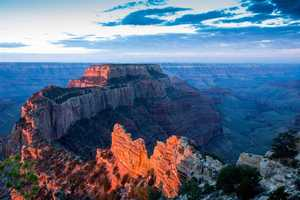 The Grand Canyon National Park in Arizona stretches over more than 1,900 square miles and is one of the Seven Natural Wonders of the World.
