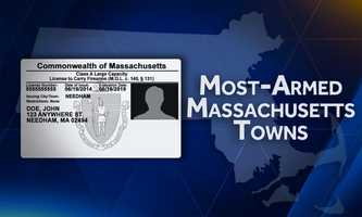 The following is a list of the communities, with populations larger than 5,000, in Massachusetts where the percentage of Class A LTCs is the highest. Based on the latest Census data and licensing information as of June 1, 2016.