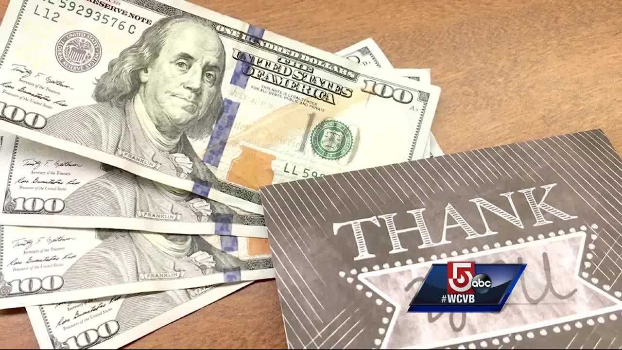 The Salvation Army in Lynn received a card and money Wednesday from someone who said the group made a big difference for her.