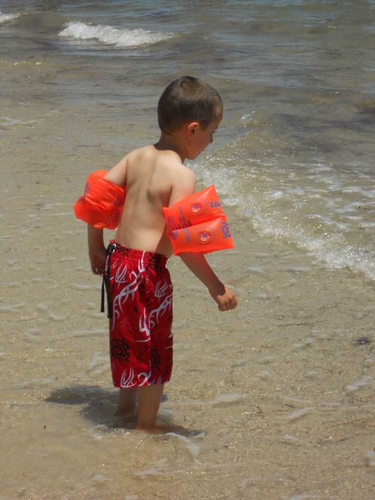 Flotation devices, like water wings, are said to pose a drowning risk. W.A.T.C.H. also warns that larger flotation devices can block the view of a child in trouble. The group reminds parents that supervision is required whenever children are in or around water.