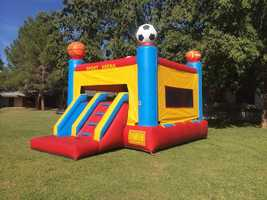 Bounce houses and trampolines pose a potential for impact and other serious injuries, W.A.T.C.H. warns. Bounce houses have also been reportedly blown away by winds and W.A.T.C.H. estimates they have been responsible for 113,272 injuries from 2003-2013. Trampolines are responsible for 104,691 injuries in 2014.