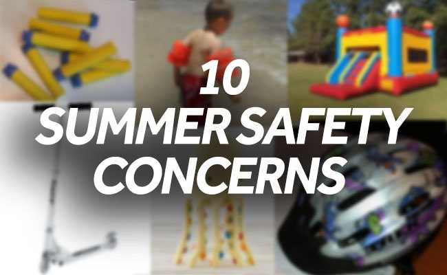 Eye injuries, burns, crashes and lacerations are among the most concerning hazards posed by summer toys, according to a new list from Massachusetts-based World Against Toys Causing Harm.