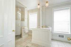 Alarge marble bath.