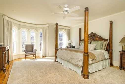 Amaster bedroom suite with double closets.