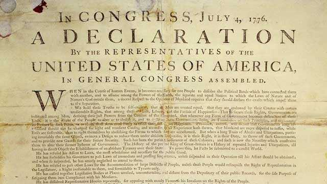 On July 4, 1776, the Continental Congress approved the Declaration of Independence, setting the 13 colonies on the road to independence.