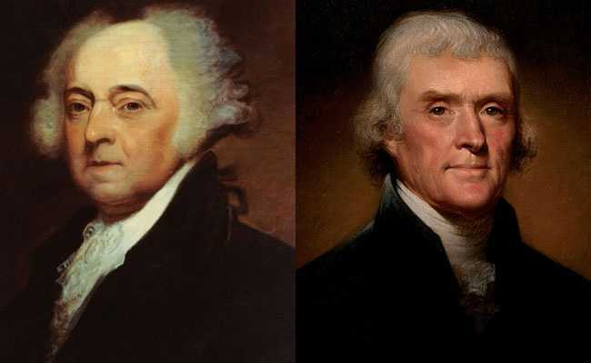 Both John Adams and Thomas Jefferson died on the 50th anniversary of the signing of the Declaration of Independence, July 4, 1826.
