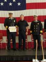 Atherton was sworn in as a firefighter in February.