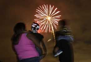 Yellow fireworks are caused by sodium nitrate