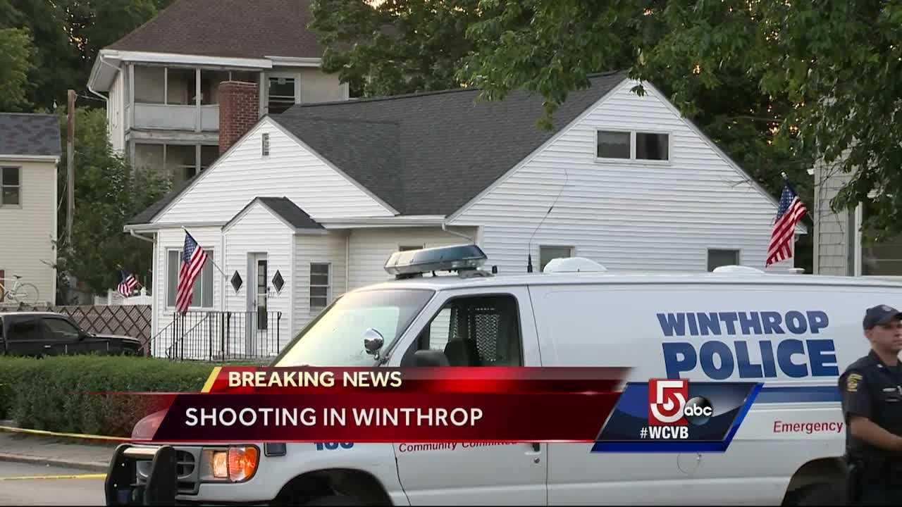 A man was shot after a brawl in Winthrop just before midnight Saturday, and the weapon used was an assault rifle.