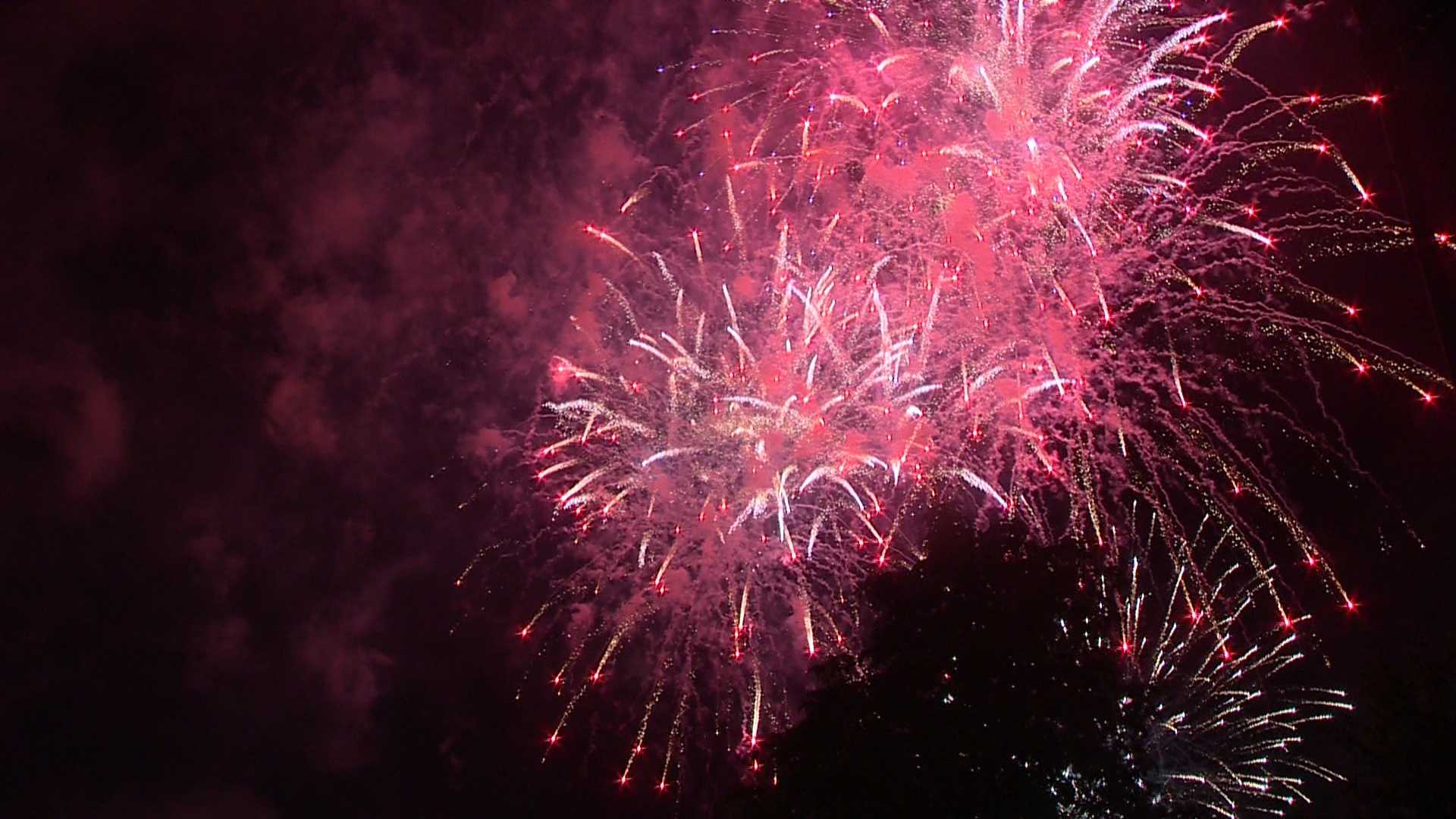 Boston's annual fireworks spectacular on the Charles River.