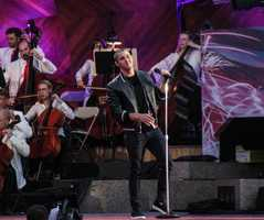Nick Jonas performs at the Boston Pops Esplanade Concert.