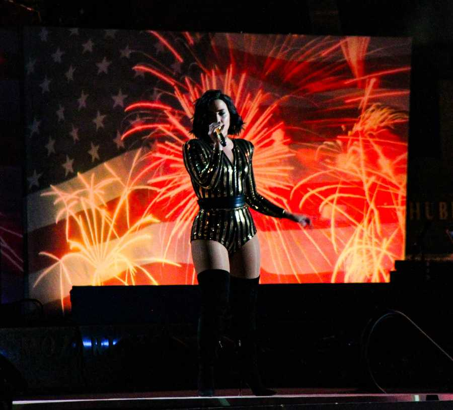 Demi Lovato was among the star performers at the Boston Pops Fourth of July Concert on the Esplanade
