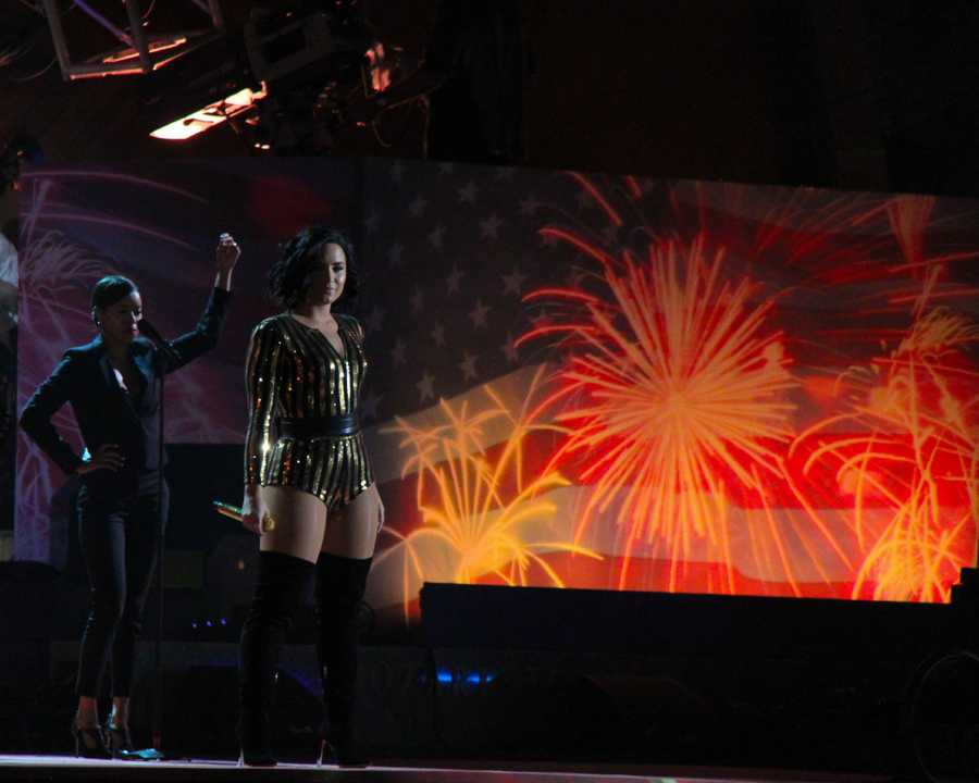 Demi Lovato performs at the Boston Pops Esplanade Concert.