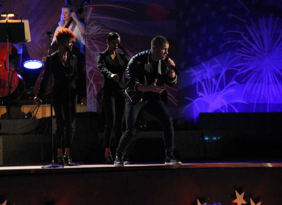 Nick Jonas also starred in the Boston Pops Fourth of July Concert.