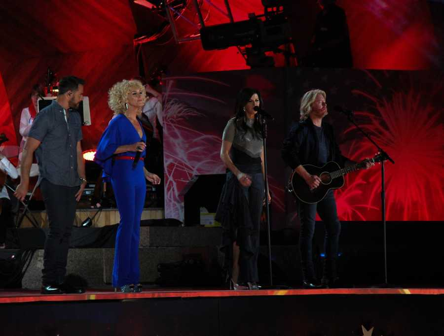 Little Big Town performs at the Boston Pops Esplanade Concert.
