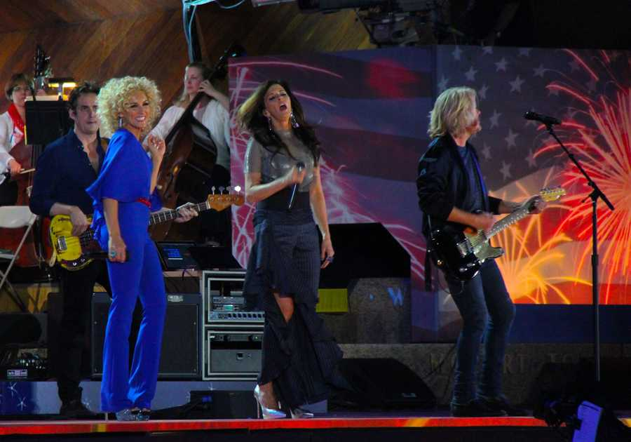 Little Big Town performs at the Boston Pops Esplanade Concert.  July 4, 2016