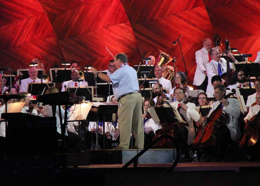 Retiring Massachusetts Department of Conservation employee Angelo Tilas gets his wish to conduct the Boston Pops.