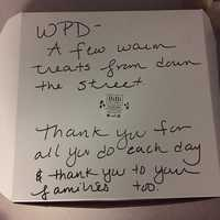 """""""The residents of this town are simply the best! Just another example of the many thanks we have received!,"""" Westwood police said."""