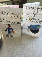"""""""The Westford Police Department would like to thank everyone, (Businesses and citizens of Westford) for the overwhelming show of support over the weekend. Food, flowers, balloons & cards that we received are very much appreciated,"""" Westford Police."""