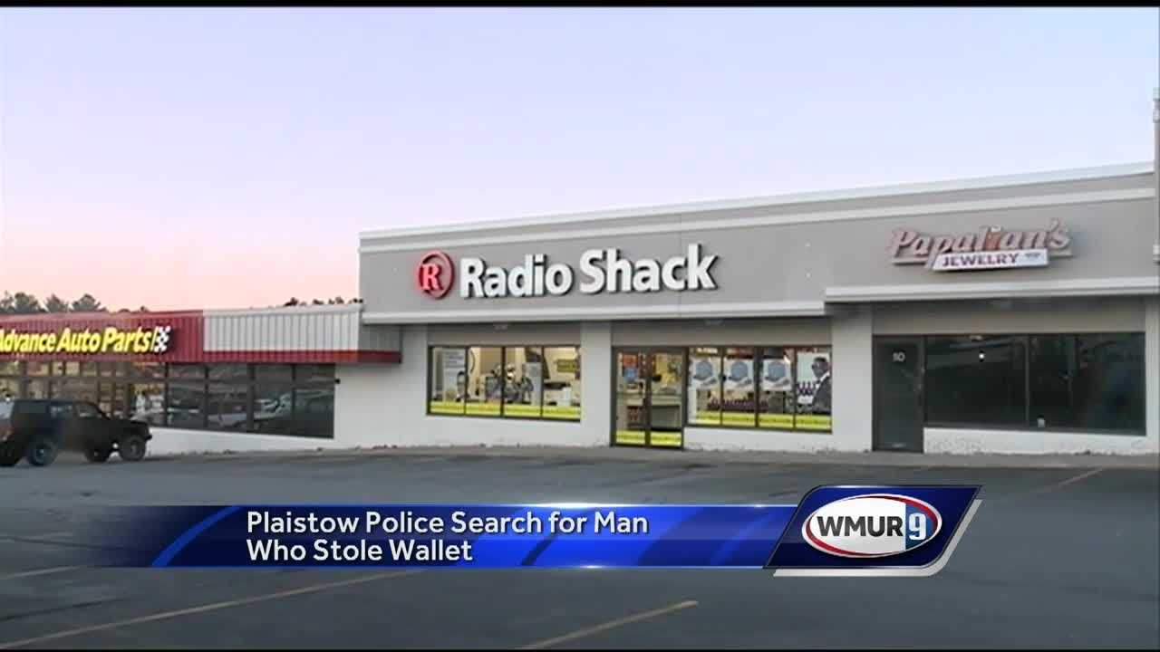 A man with ALS was inside a radioshack with his caregiver when a man stole his wallet.