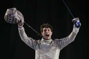 Eli DershwitzHometown: SherbornEvent: Fencing, SaberDate of birth: Sept. 23, 19952015 Pan American Games, gold medalist