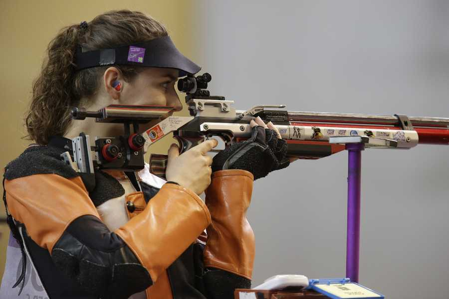 Sarah SchererHometown: WoburnEvent: Shooting, 10m AirDate of birth: Feb. 12, 19917th place in London 2012 Olympic Games