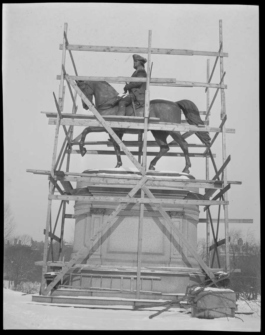 1919 statue repair or cleaning work