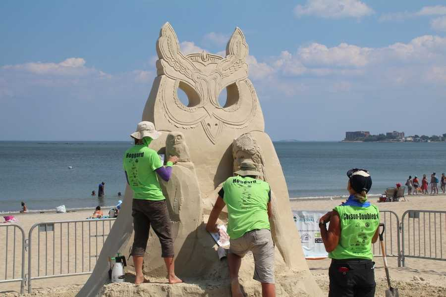 Remy and Paul's company, Sandartist Ltd., produces, organizes, and creates sand sculptures for different events and locations all around the world.