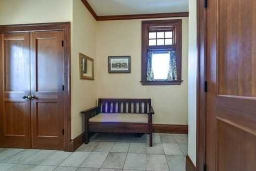 First floor library as well as laundry near the mudroom.