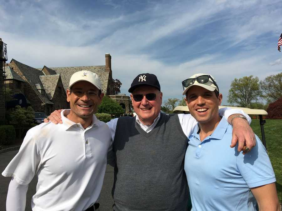 Ben golfs! In this photo, he is with New York Cardinal Timothy Dolan at the Cardinal's Golf Outing this spring.
