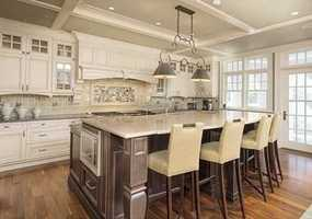 The luxurious kitchen offers all that today's lifestyle desires-for entertaining & warm family living, including a large breakfast room & screened porch.