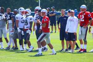 Patriots quarterback Jimmy Garoppolo prepares to throw a pass during practice Saturday.