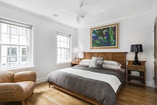 Amenities include Sonos & Bose built-in sound system on all levels, power window shades, radiant heated baths, great light central air & vacuum.