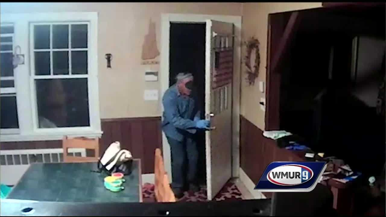 A man entered an Allenstown home in the middle of the night and stole a purse in a burglary caught on surveillance camera, police said.