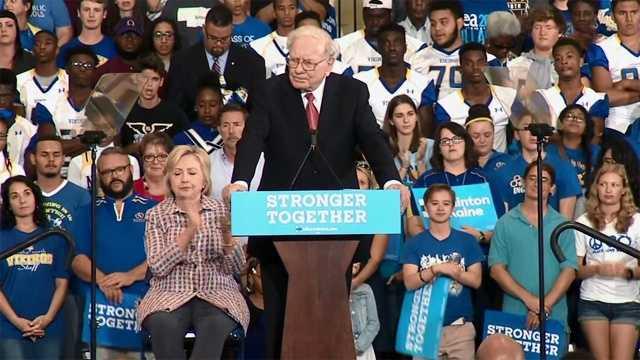 Warren Buffett Nebraska Clinton rally copy