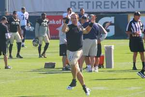 New Orleans Saints quarterback Drew Brees was one of the first players on the field, and had an interesting pregame workout.