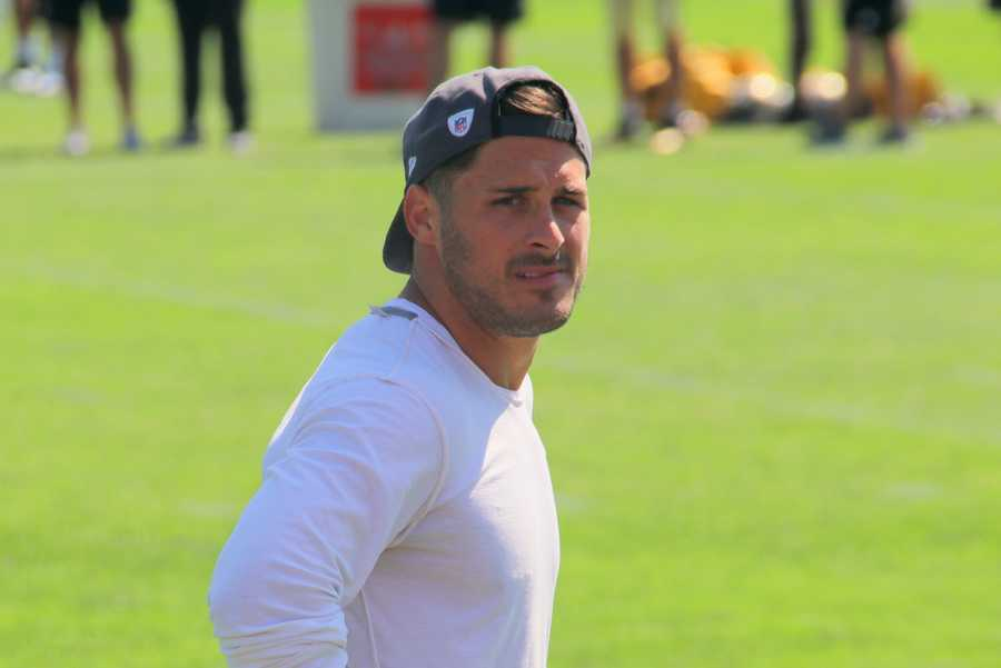 Wide receiver Danny Amendola looks at the fans in the crowd. He remains on the PUP list.