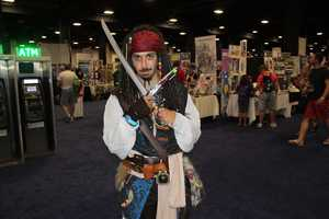 The day we will always remember we caught a photo of Captain Jack Sparrow.