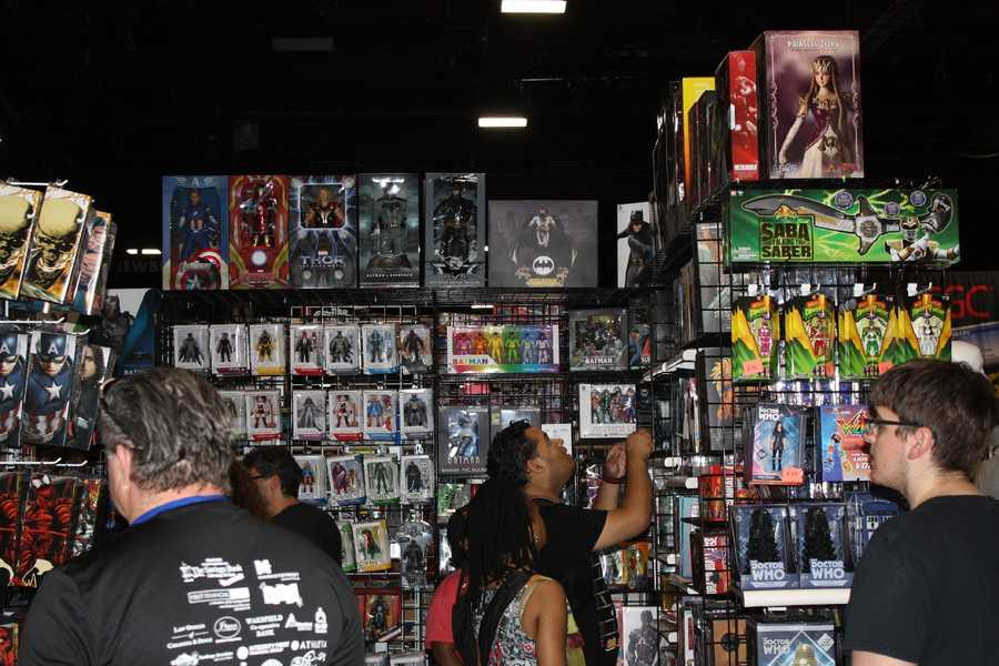 Some of the collectible material available at Comic Con.