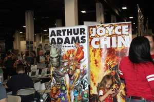 Arthur Adams, Joyce Chin. Two of the many illustrators at Boston Comic Con.