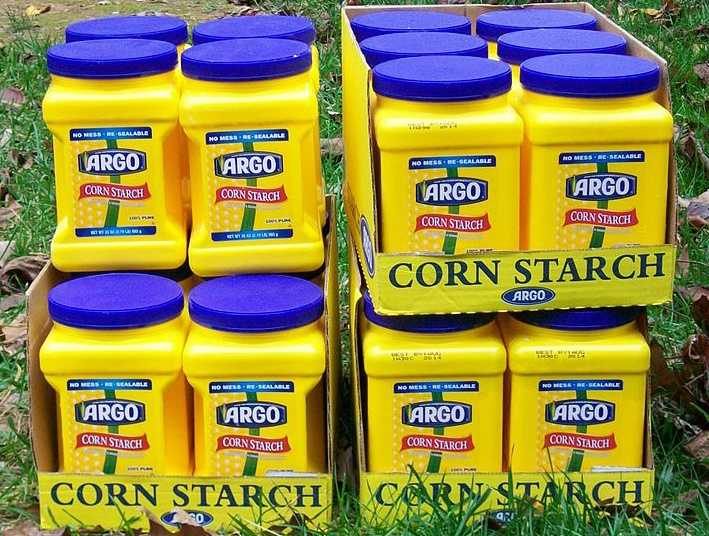 Cornstarch: On the quest for the perfect fluffy egg, Self.com says cornstarch has a scientific benefit. They say it prevents the proteins from seizing up, squeezing out moisture and turning rubbery.