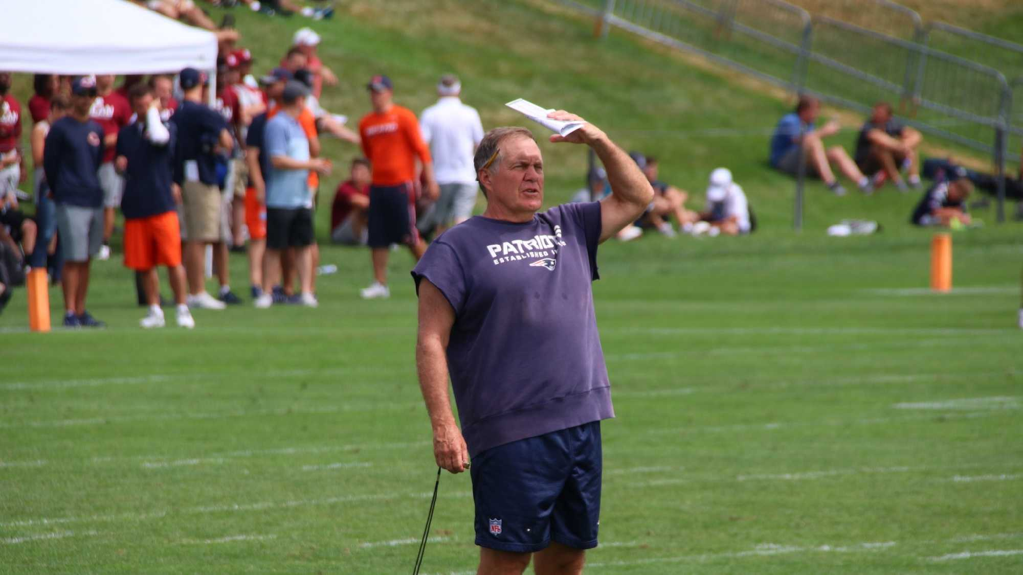 Patriots-Training-Camp-Bears-0816 (15) Bill Belichick.JPG