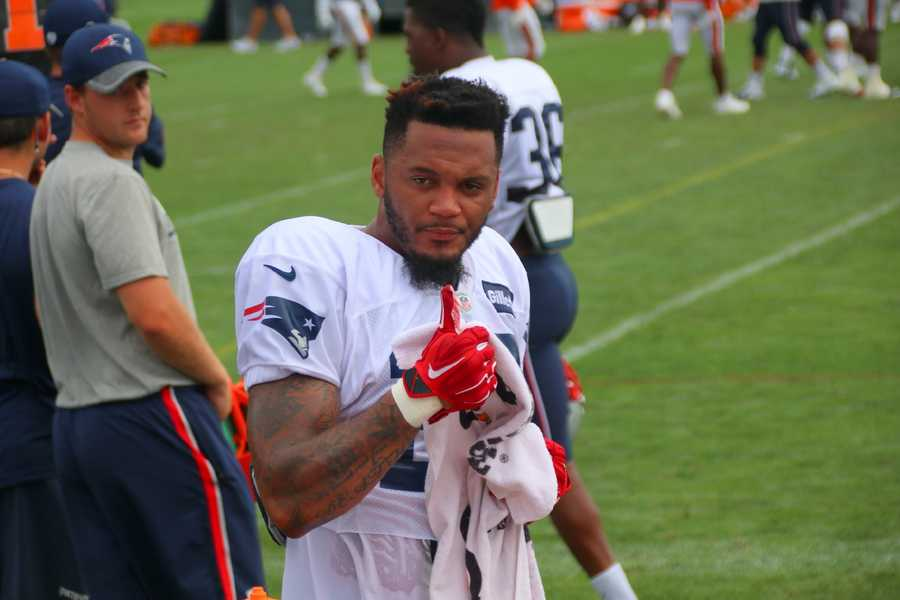 Patriots safety Patrick Chung on the sidelines at joint practice Tuesday.