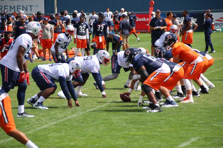 Wednesday marked the final day of joint practices between the Patriots and Bears, and the final day the public could watch the team practice at Gillette.