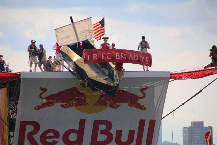 "Team Two if by Sea grabbed attention for their ""Free Tom Brady"" message at Red Bull Flugtag."