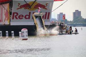 """Team Two if by Sea grabbed attention for their """"Free Tom Brady"""" message at Red Bull Flugtag."""